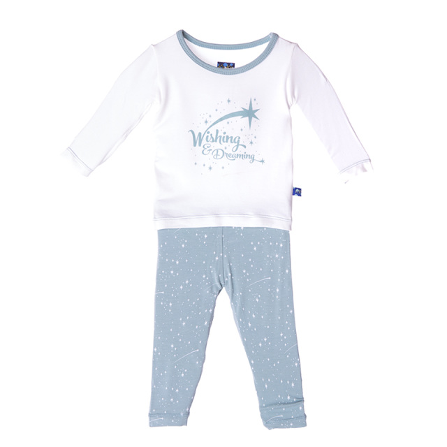 Kickee Pants Basic LS One Pc Starfish